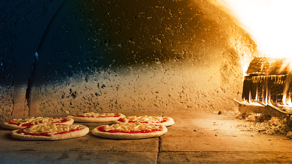 Pizzastein, Pizzaofen, Pizza, Backen, Feuer
